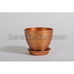 Горшок цвет бронза (диаметр 8,5 см.)