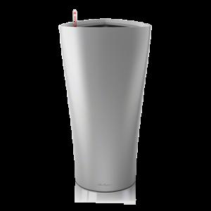 Горшок LECHUZA Delta 40 (Серебристый металлик )