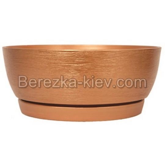 плошка керамическая бронза