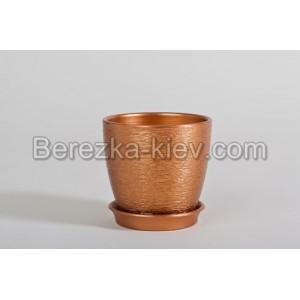 Горшок цвет бронза (диаметр 10 см.)