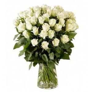 Букет из белых роз 23 шт. высота 50-60см.