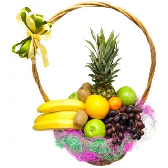 Подарок с екзотическими фруктами