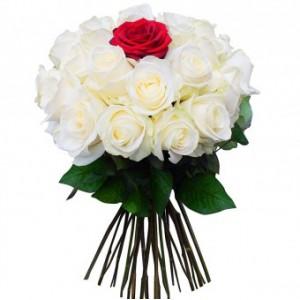 Букет из белых роз 29 шт.