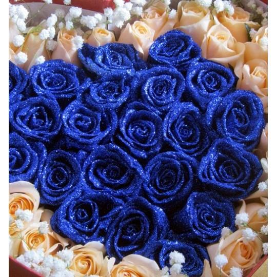Букет из роз 51 шт., купить букет роз киев, недорого букет синих, голубых, красных, белых, розовых роз,розы по хорошей цене