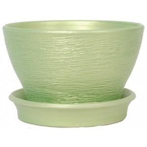 Фиалочница цвет изумруд (диаметр 12 см.)