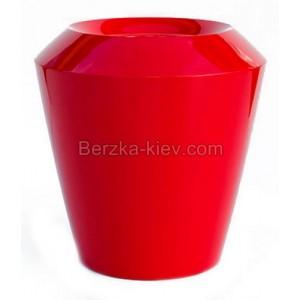 Пластиковый горшок Canico яркие (красный) 45